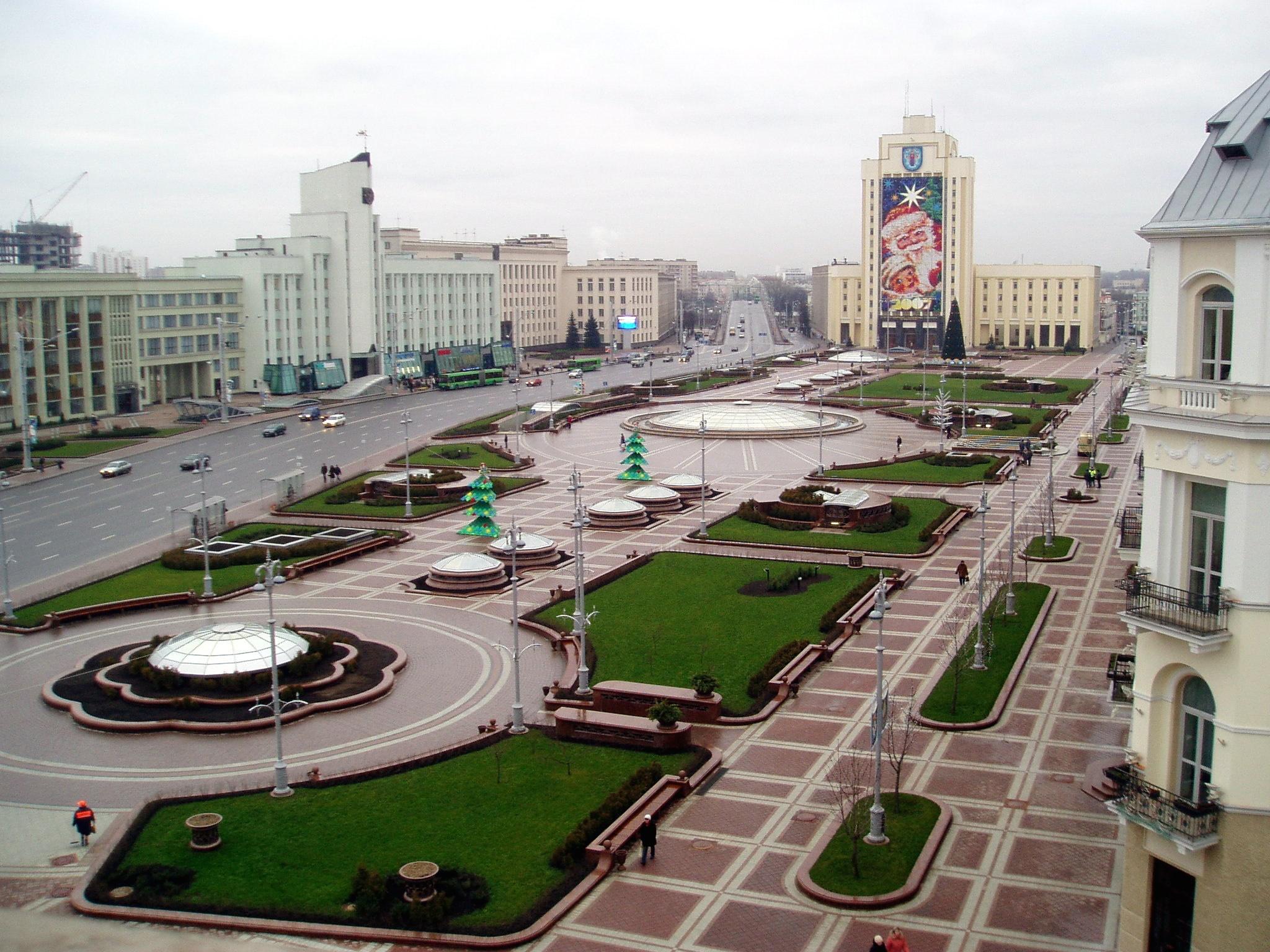 Минск - памятник застывшему СССР