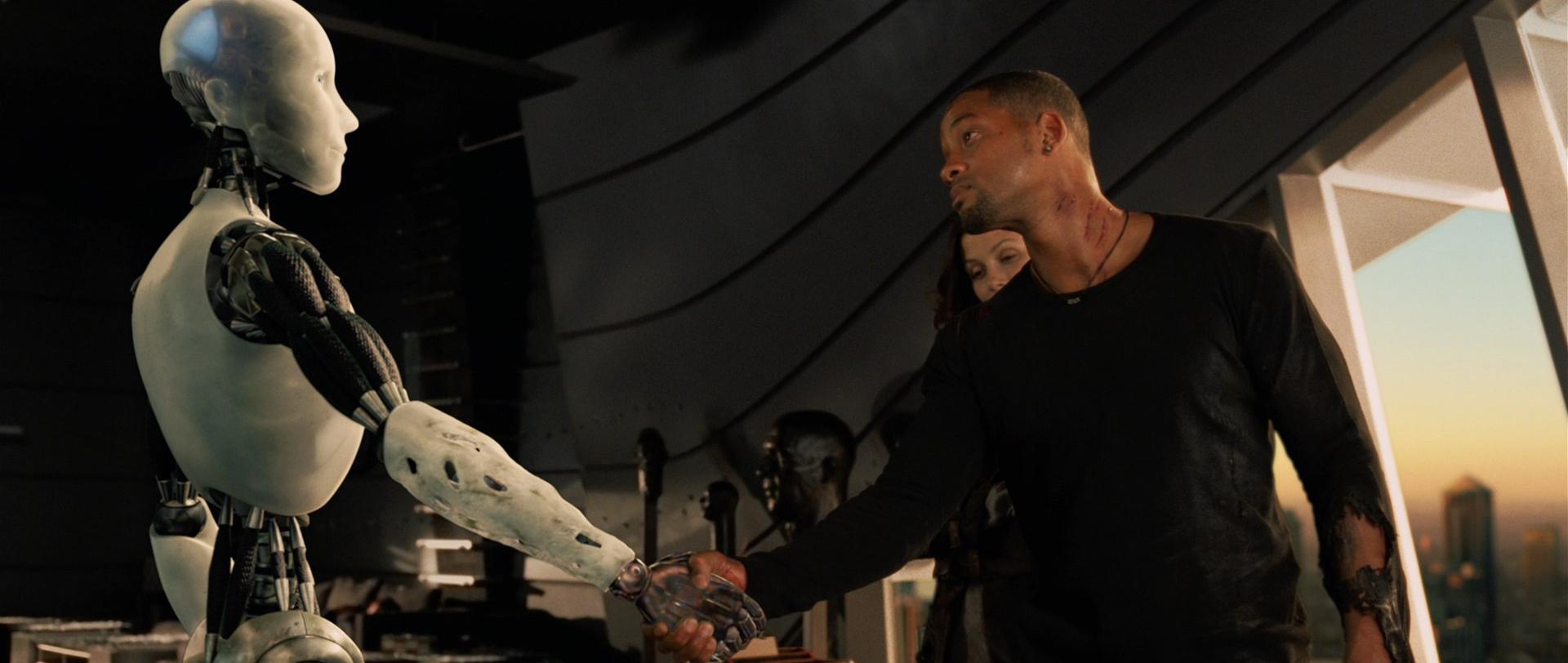 """Кадр из фильма """"Я, Робот"""""""