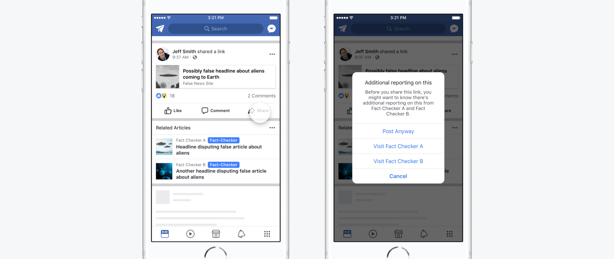 Проверка фактов по версии Facebook